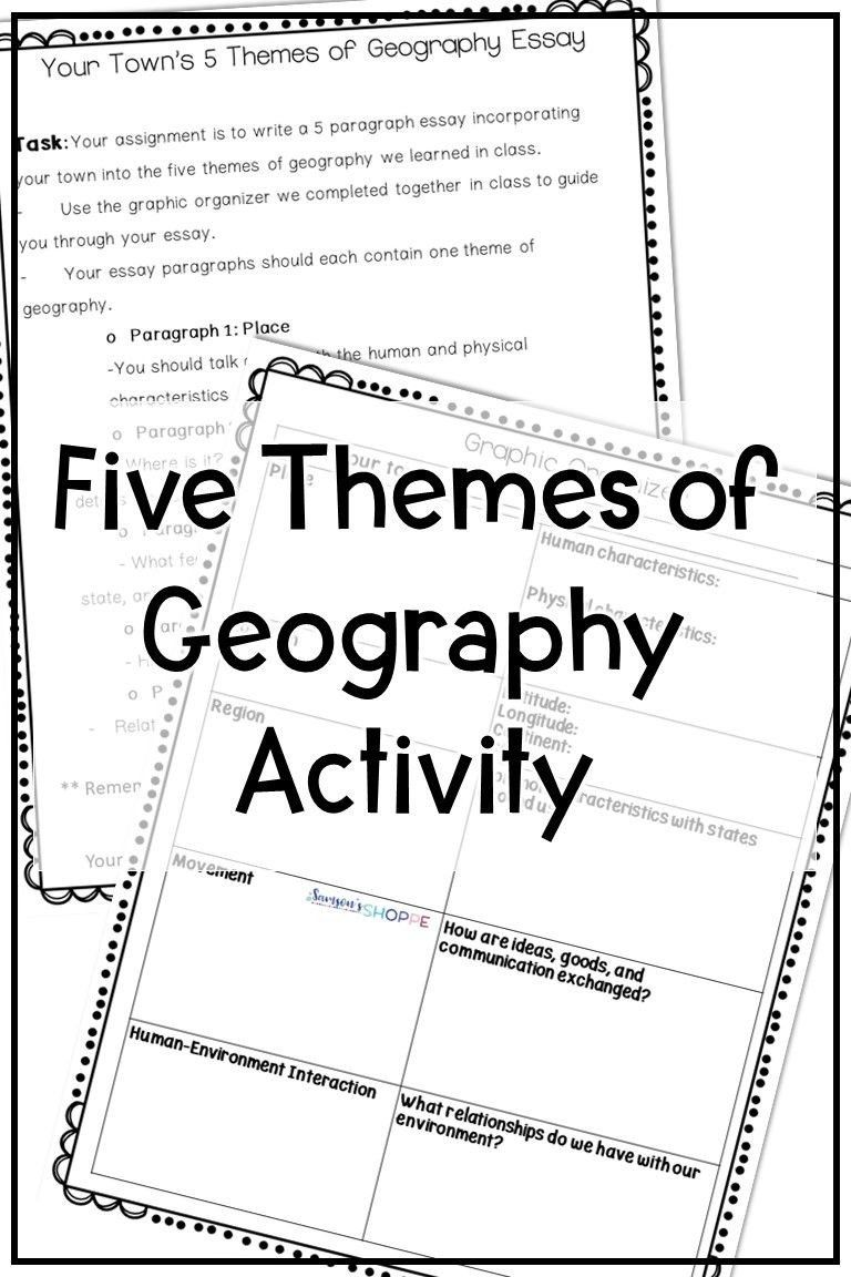 Themes Of Geography Worksheet Five Themes Of Geography Activity Geography Worksheets Five Themes Of Geography Geography Activities