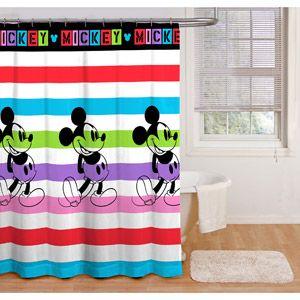 Disney Mickey Mouse Fabric Shower Curtain 1 Each Walmart Com