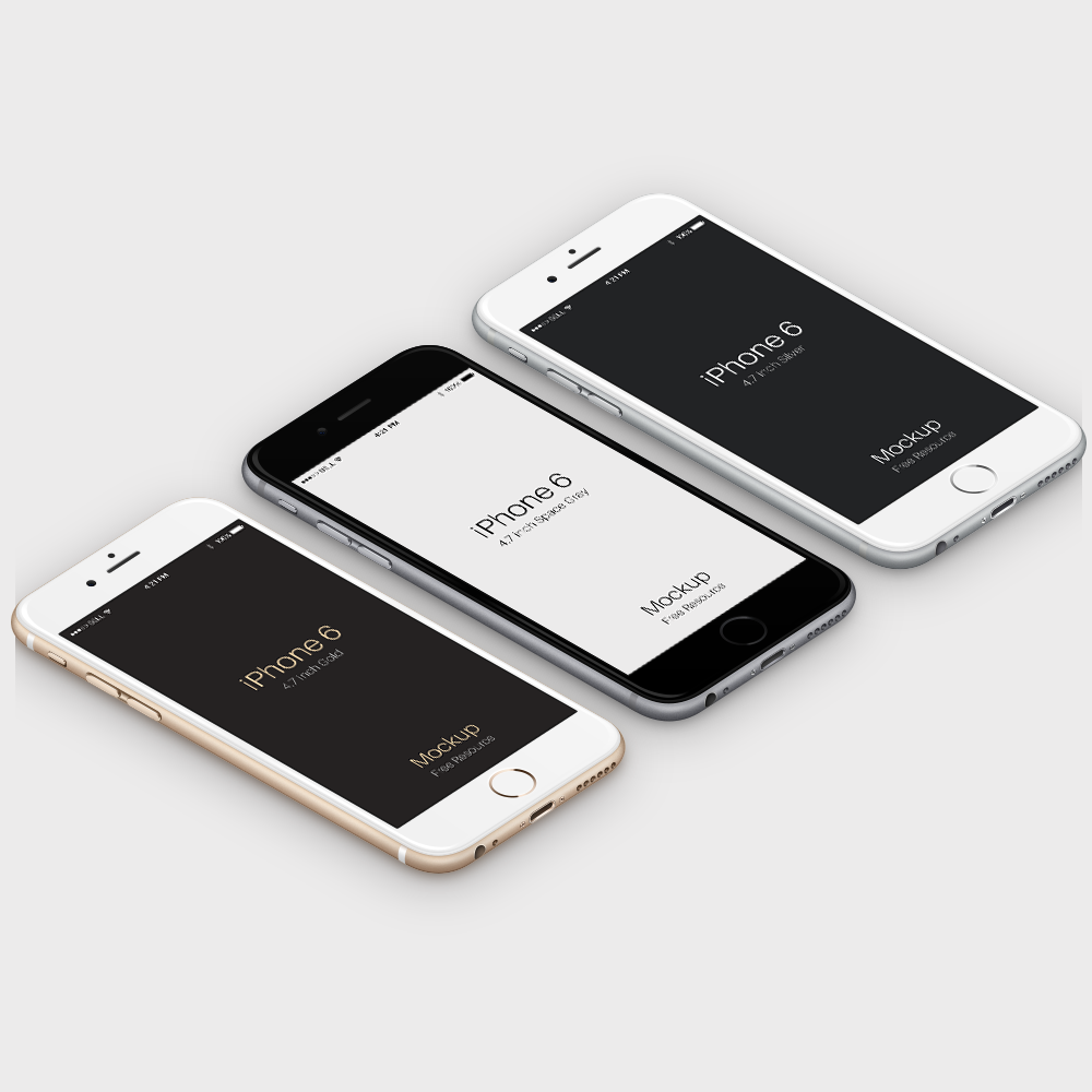 Isometric Free PSD iPhone 6 Mockup Template | Mockups | Pinterest ...