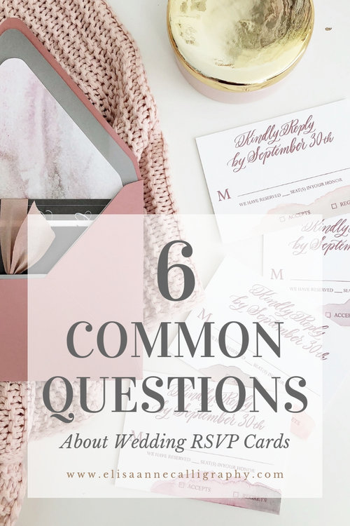 6 Common Questions about Wedding RSVP Cards Wedding rsvp