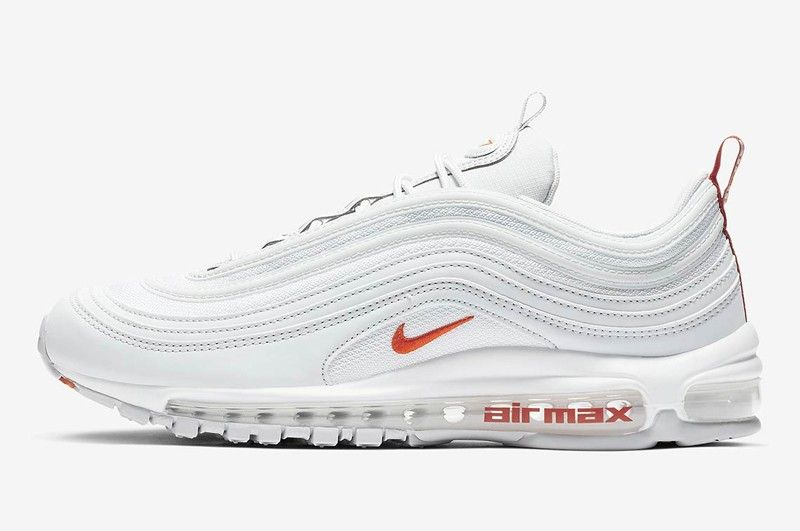 size 40 79528 1c4bd Nike Air Max 97 Pure Platinum Team Orange-White Resistant Lightweight  Sneakers BV1985-002
