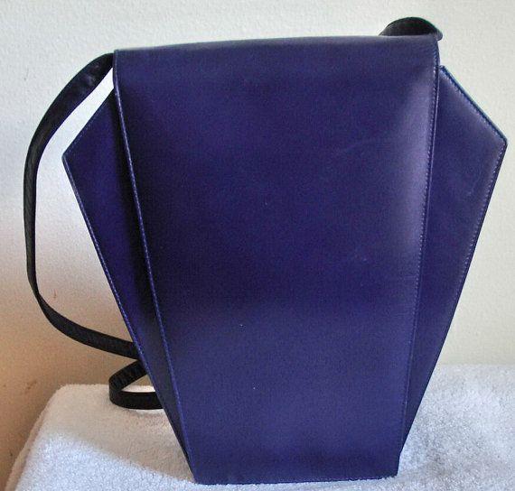 1980s Charles Jourdan Bag Paris Art Deco Leather Purse Etsy Art Deco Bag Purple Bags Bags