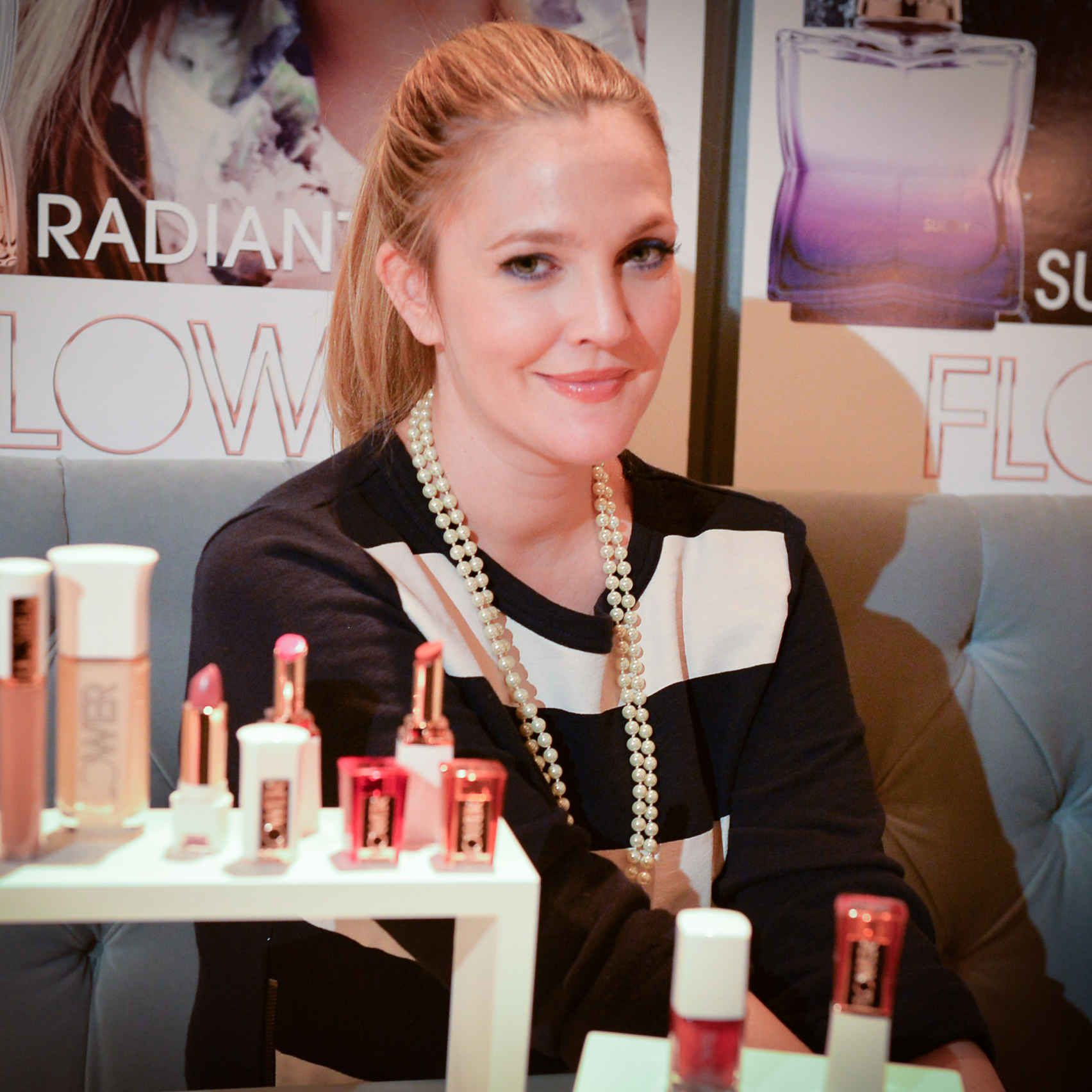 Drew Barrymore On The Launch Of Flower Beauty In Canada Fashion