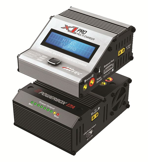 Hitec's new X1 Pro charger and ePowerBox power supply