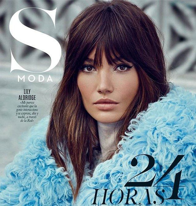 Victoria 39 s secret model lily aldridge channels jane birkin cabello y belleza cabello - Castano vitoria ...