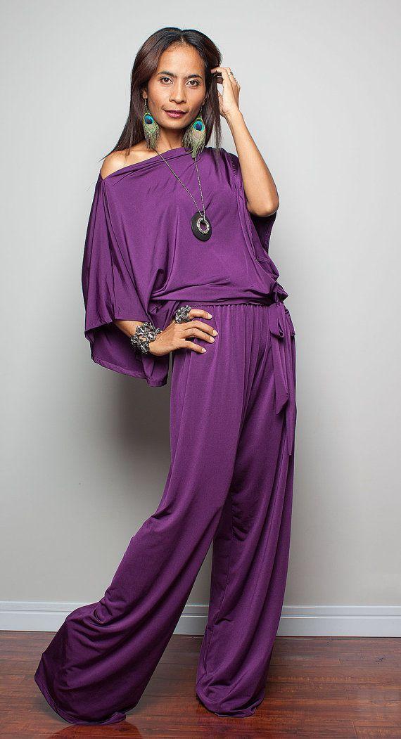 12c537d6ad1 Jumpsuit Dress Purple Jumper Maxi Dress Chic   Casual by Nuichan ...