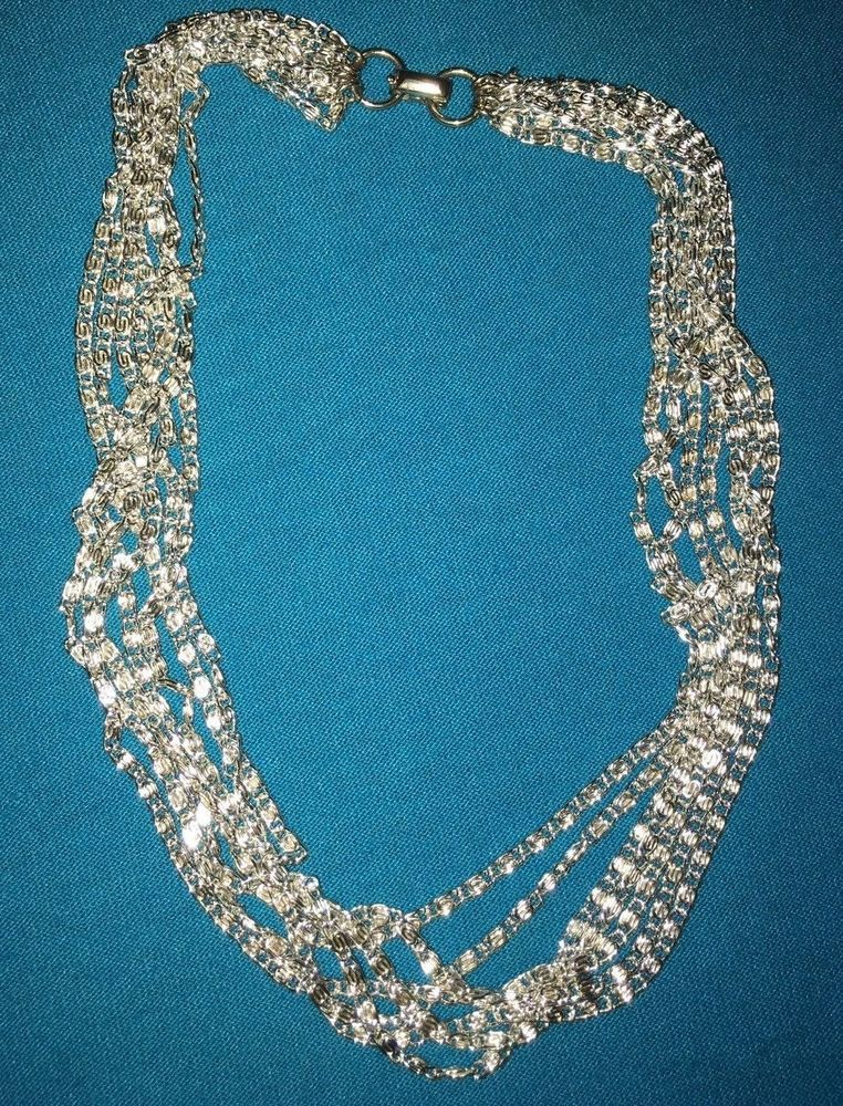 Sarah Coventry silver strand chain