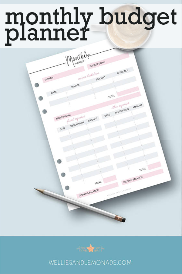 This Adorable Monthly Budget Planner Helps You Put Together A