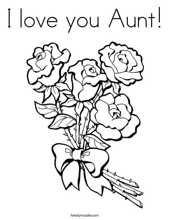 Happy Birthday Aunt Coloring Pages | Mom coloring pages ...