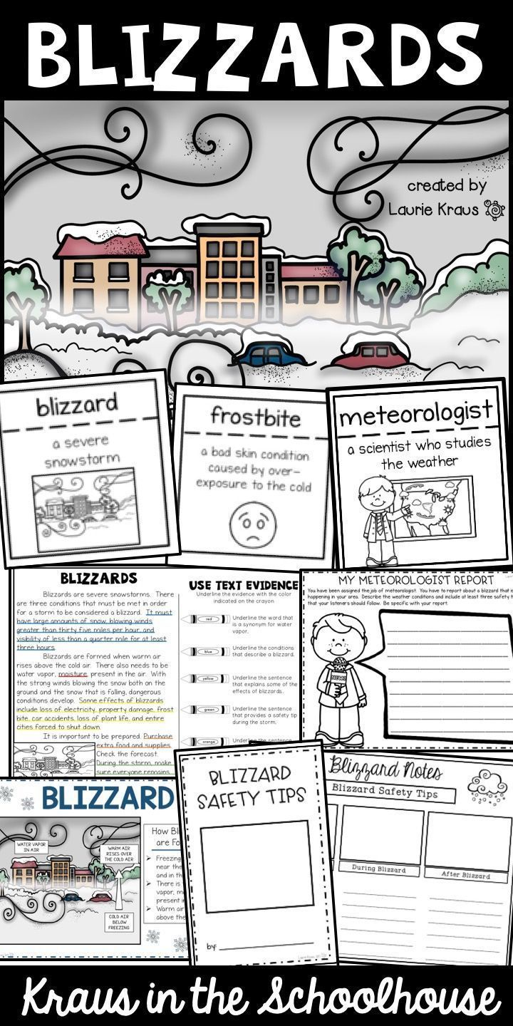 blizzards research graphic organizers text evidence and safety