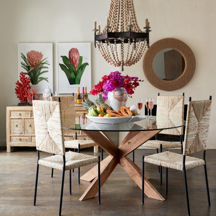 Rope Mirror   Natural Organic Circular Rope Mirror is part of Dining room table chairs - Packed with texture and coastal style, the Rope Mirror accentuates any wall space with its unique charm