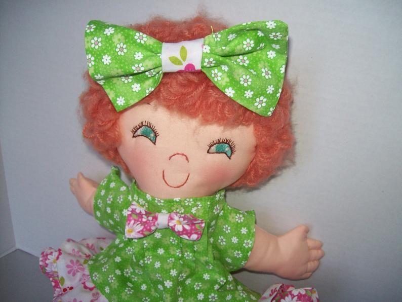 Easy cloth rag doll pdf pattern ginger snap 15 rag doll