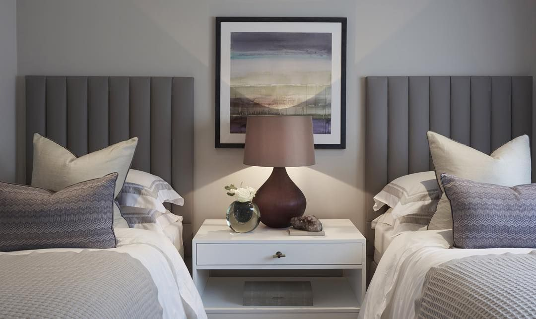 Twin Beds For A Guest Room Can Make A Chic Change From A Double
