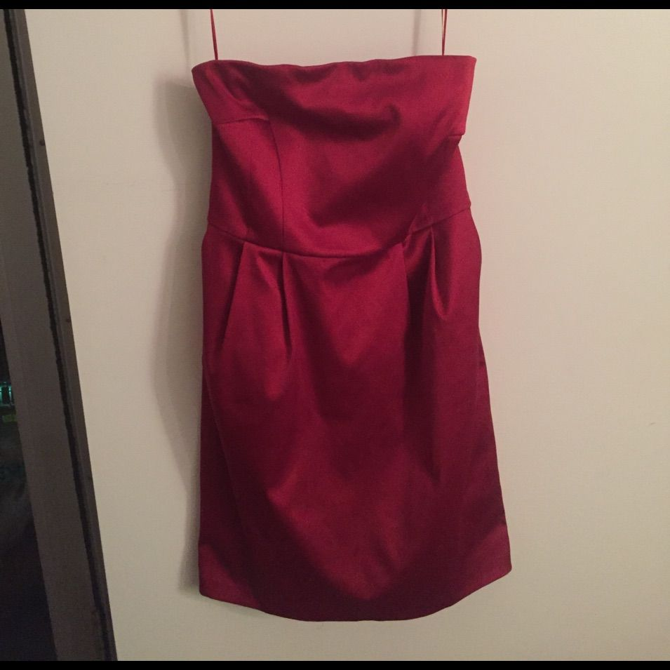 Express sleeveless red dress products