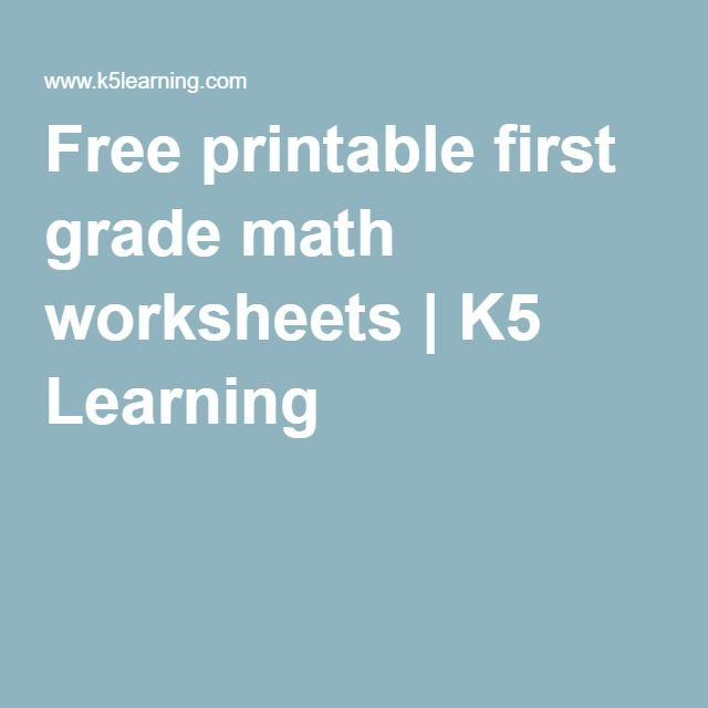 Free printable first grade math worksheets | K5 Learning | math ...