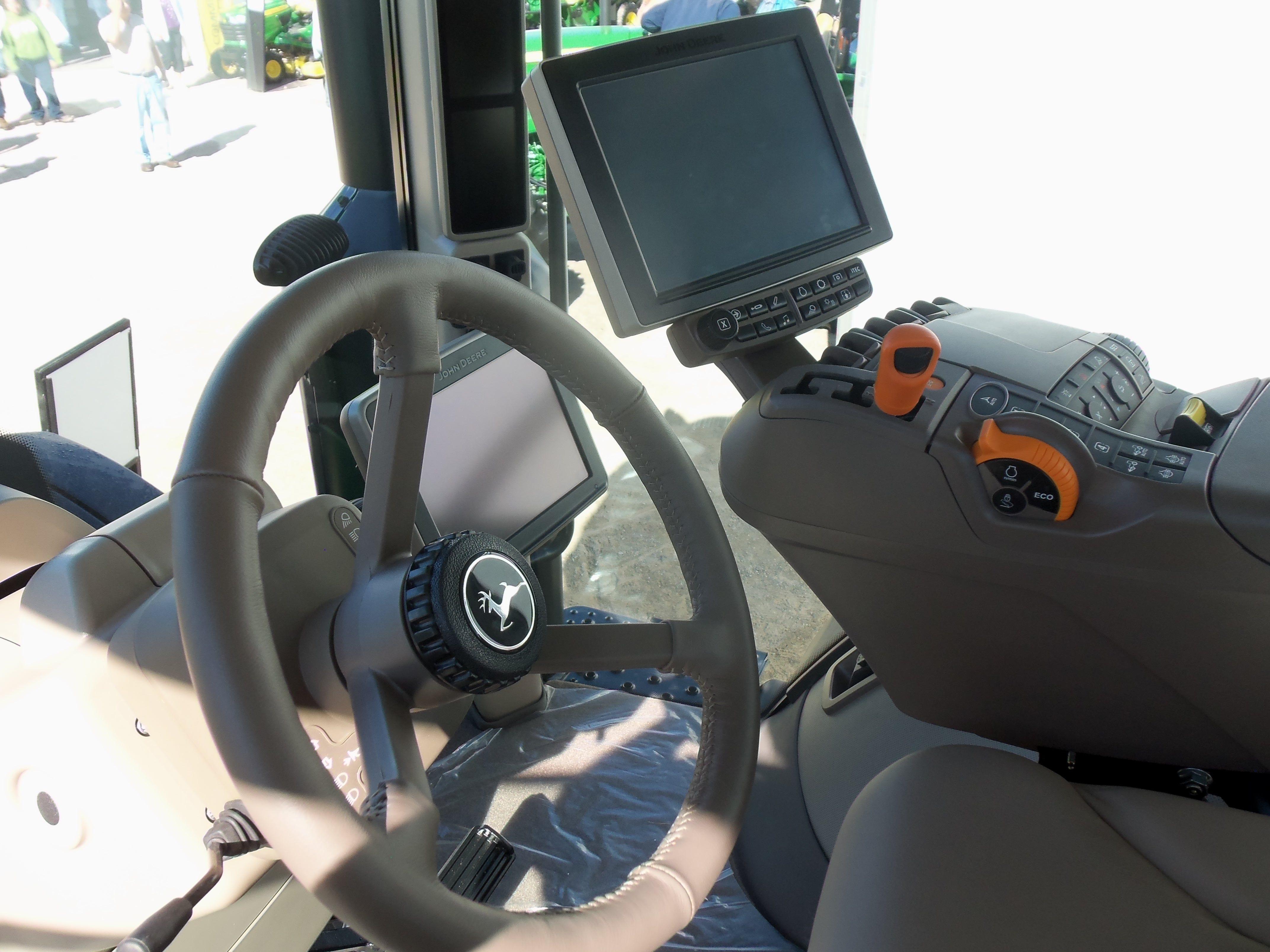 Inside Of A Combine : Part side john deere r commandview cab