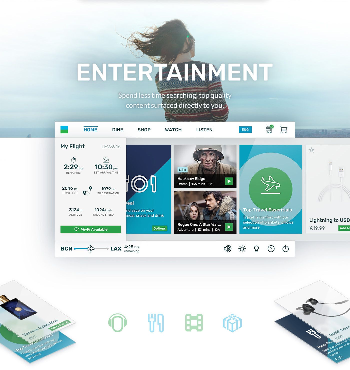 Level Inflight Entertainment System And Web Portal On Behance