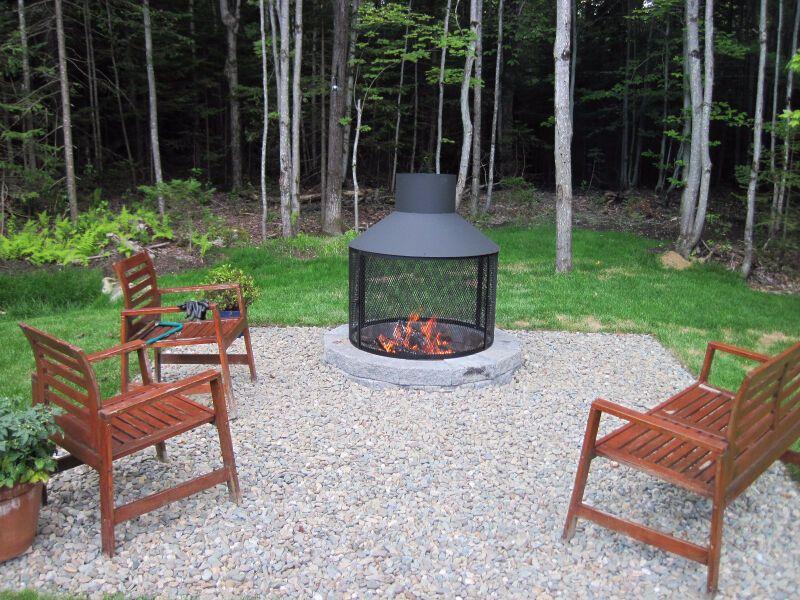 Foyer Exterieur Mobilier Pour Terrasse Et Jardin Granby Kijiji In 2020 Outdoor Wood Burning Fireplace Outdoor Fire Pit Outdoor Fireplace