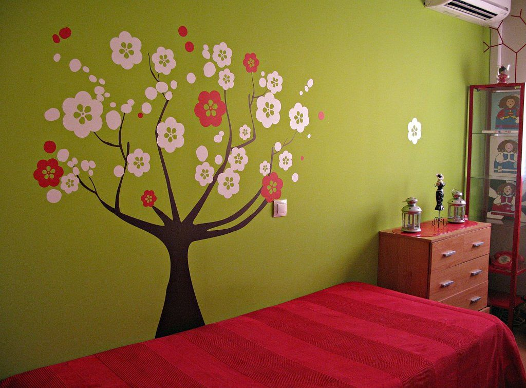 Decora tu habitaci n como pintar un rbol en la pared for Ideas para pintar paredes