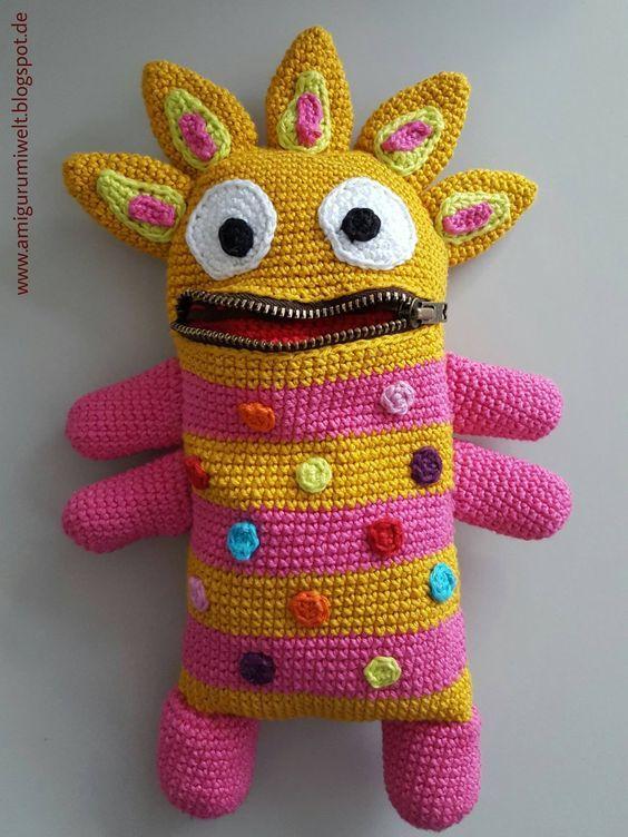 Amigurumi, häkeln, crochet, kostenlos, free, monster | crochet and ...