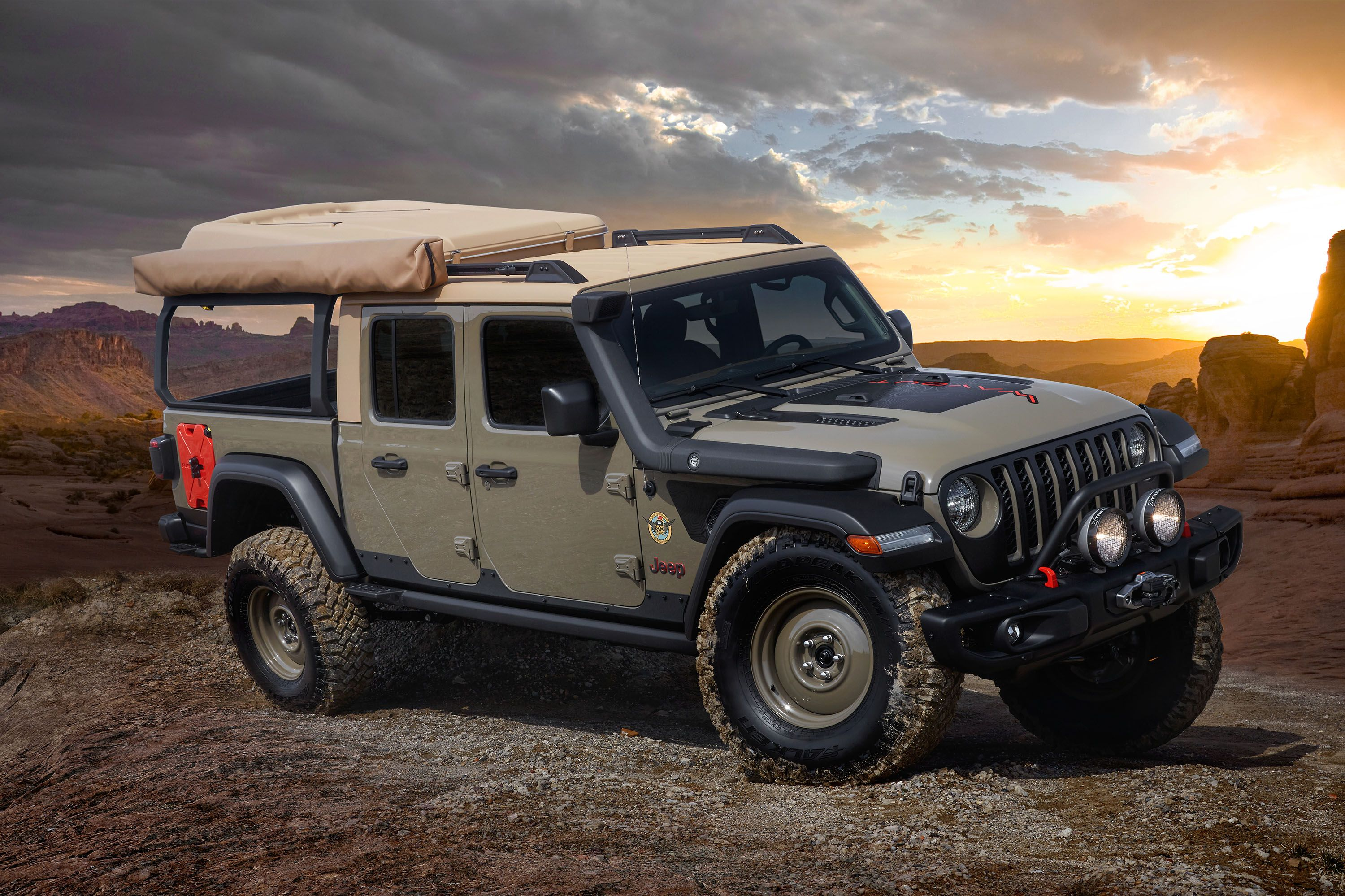2019 Jeep Gladiator Wayout Concept Off Road Jeep Jeep Truck En Dirtbikes