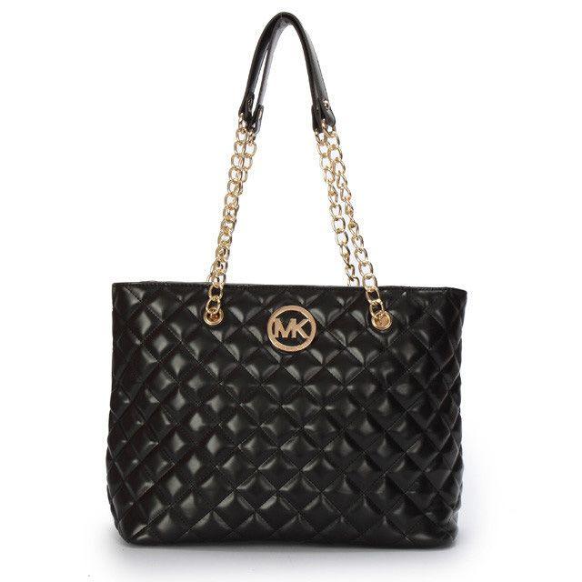 Michael Kors Quilted Large Black Shoulder Bag | MK is bae ... : michael kors quilted bag - Adamdwight.com