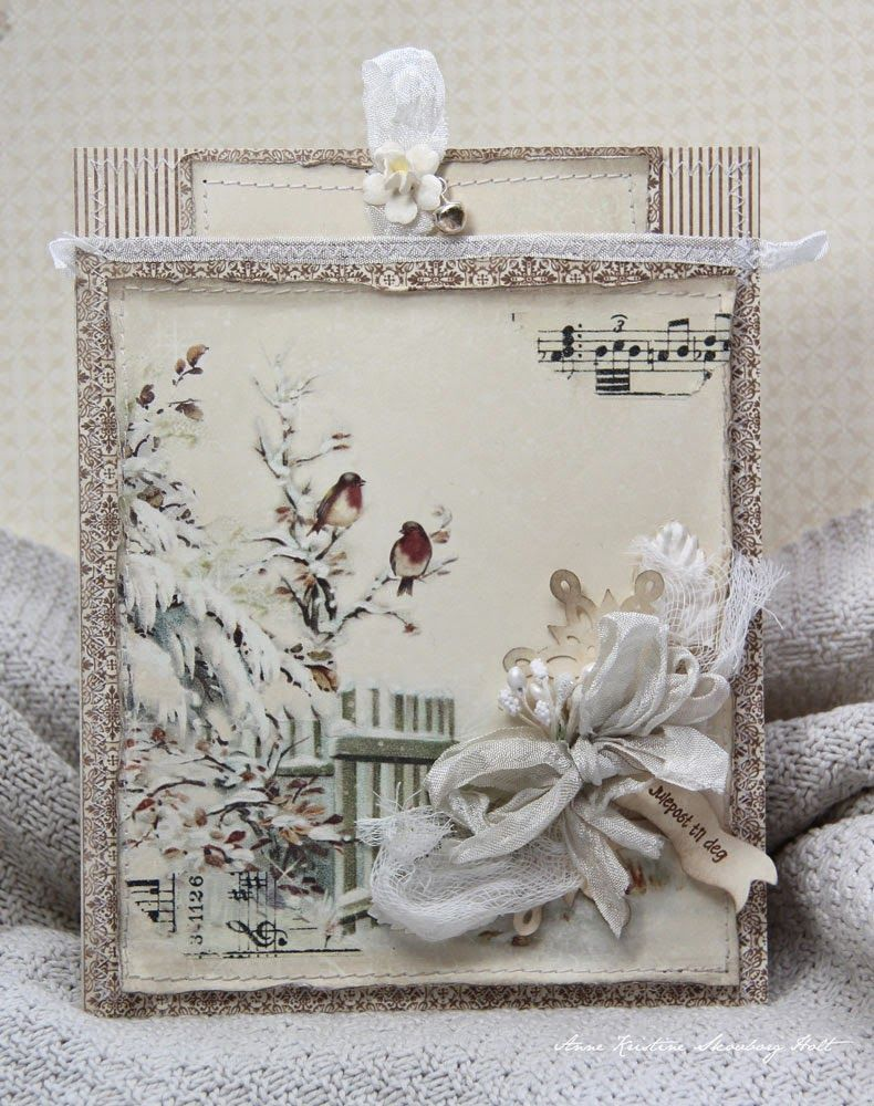 New Christmas papers from Pion Design - Winter birds....