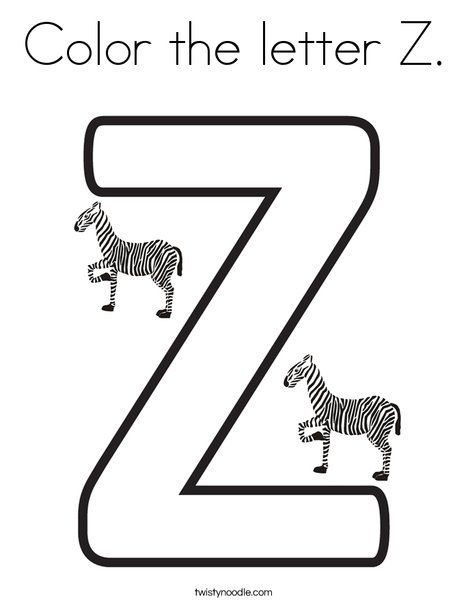 Color The Letter Z Coloring Page Letter Z Letter A Coloring Pages Alphabet Coloring Pages