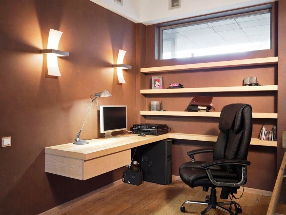 Furniture, Awesome Wall Mounted Lighting For Professional Home Office  Organizers With Modern Ergonomic Chairs And Decorative Wall Shelves: Indoor  And ...