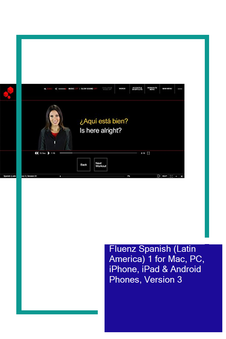 Online Fluenz Spanish Latin America 1 for Mac PC iPhone,iPad /& Android Phones