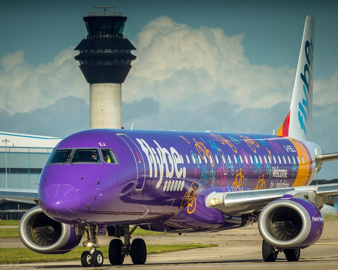 Flybe ERJ195 Embraer MAN aviation airline aircraft