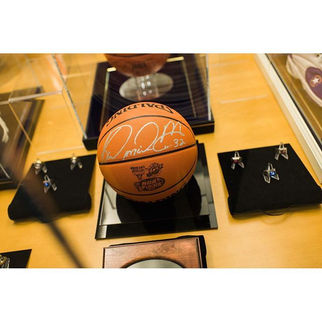 Waiting on your car can actually be fun.  Karl Malone's museum is located right upstairs from our service area.  Come take a peek... #karlmalone #basketballislife #toyotalife #utahjazz