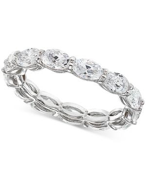 69200e019bc8a Cubic Zirconia Stackable Oval Band in Sterling Silver, Created for ...