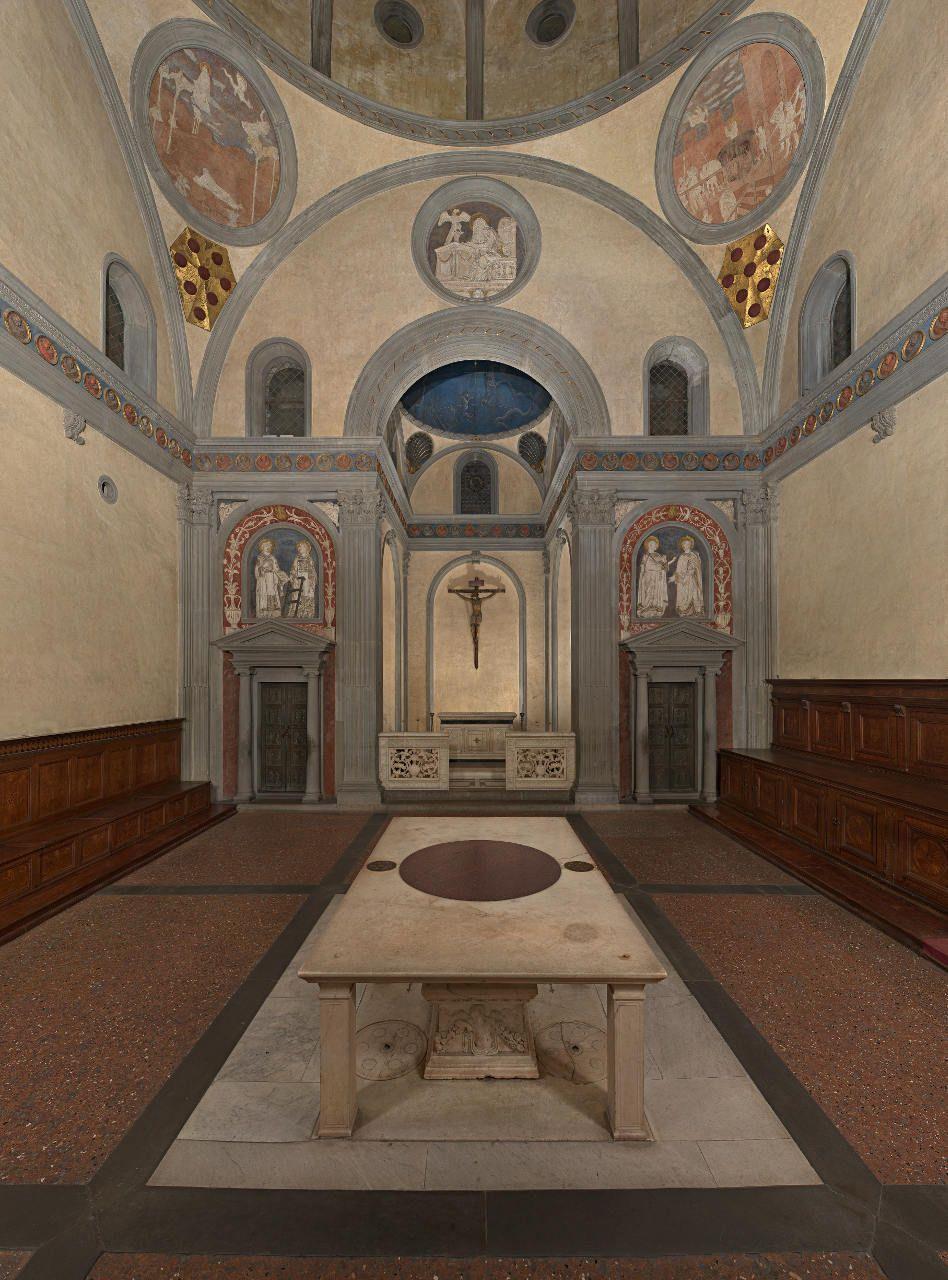 Brunelleschi sagrestia vecchia basilica di san lorenzo for Sagrestia vecchia