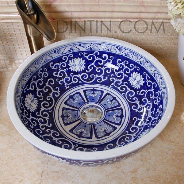 Perfect Blue Painted Ceramic Sinks_3_ (600×600) | Camisas De Linho | Pinterest  | Ceramics, Search And Sinks