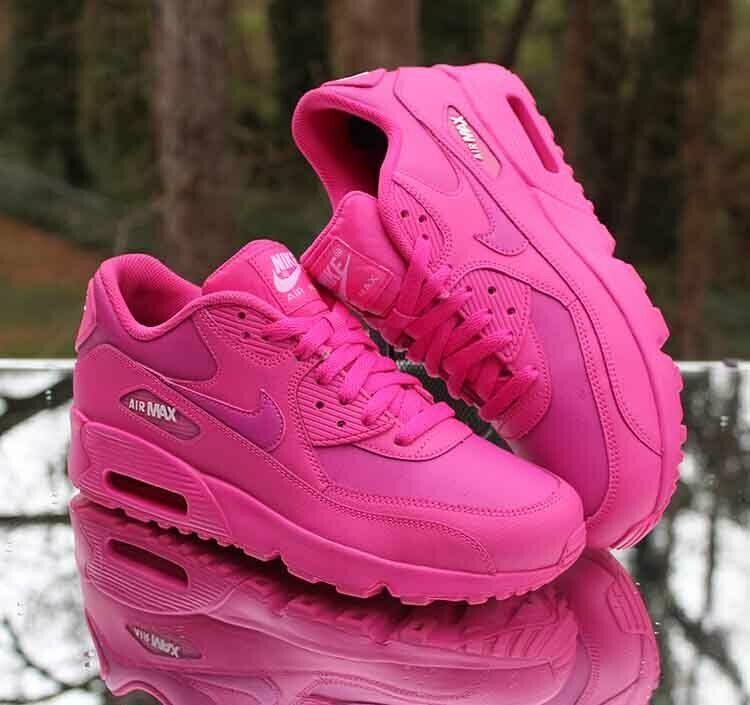 5e05ada34f Nike Air Max 90 GS LTR Laser Fuchsia 833376-603 Kids Running Shoes Size 7Y # Nike #Athletic