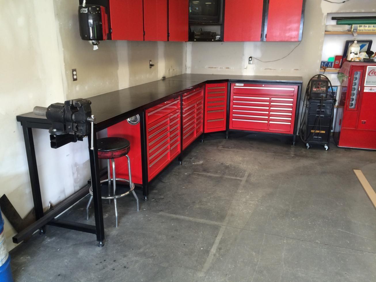 Harbor Freight Garage Flooring : Steevo inspired harbor freight toolbox workbench garage