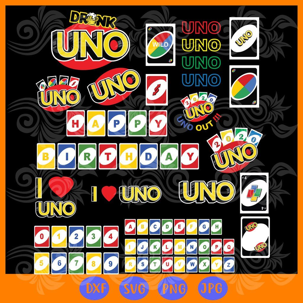 Uno Card Bundle Svg Files For Silhouette Files For Cricut Svg