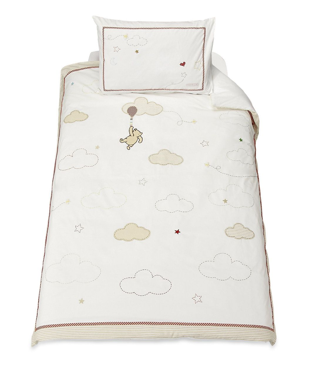 Clic Winnie The Pooh Duvet Cover Set Cot Bed Quilts Coverlets Mothercare