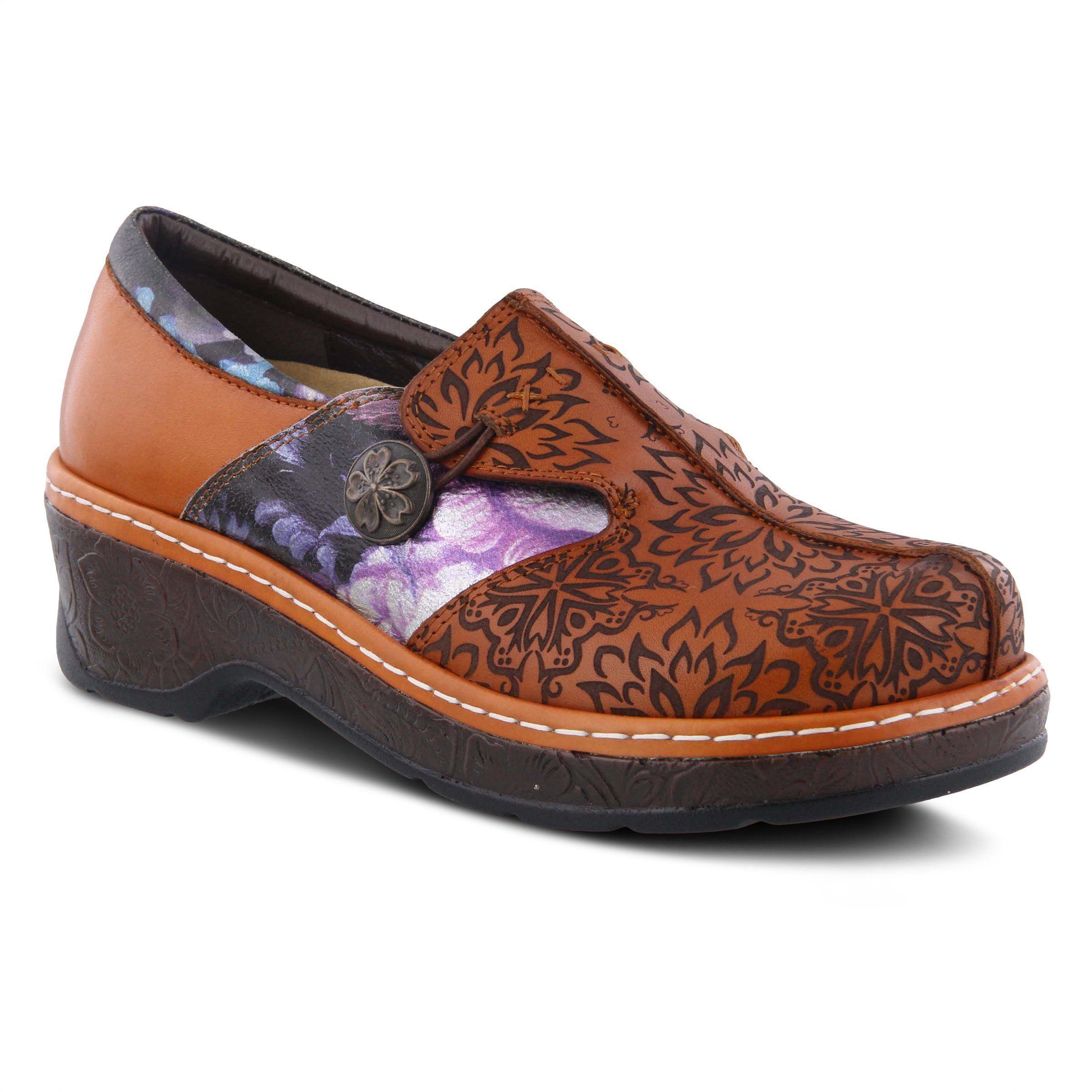 Flames clog leather clogs clogs spring step shoes