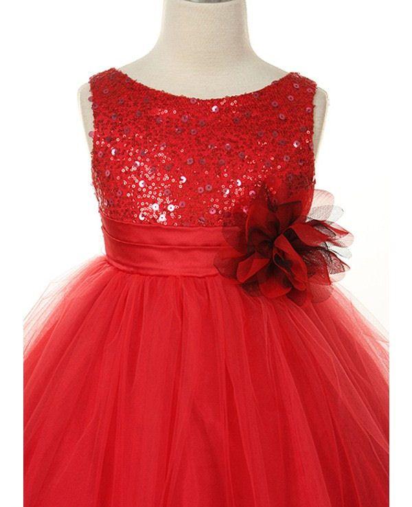 Red Flower Girl Dresses