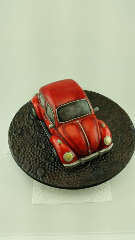 Retro VW Beetle cake