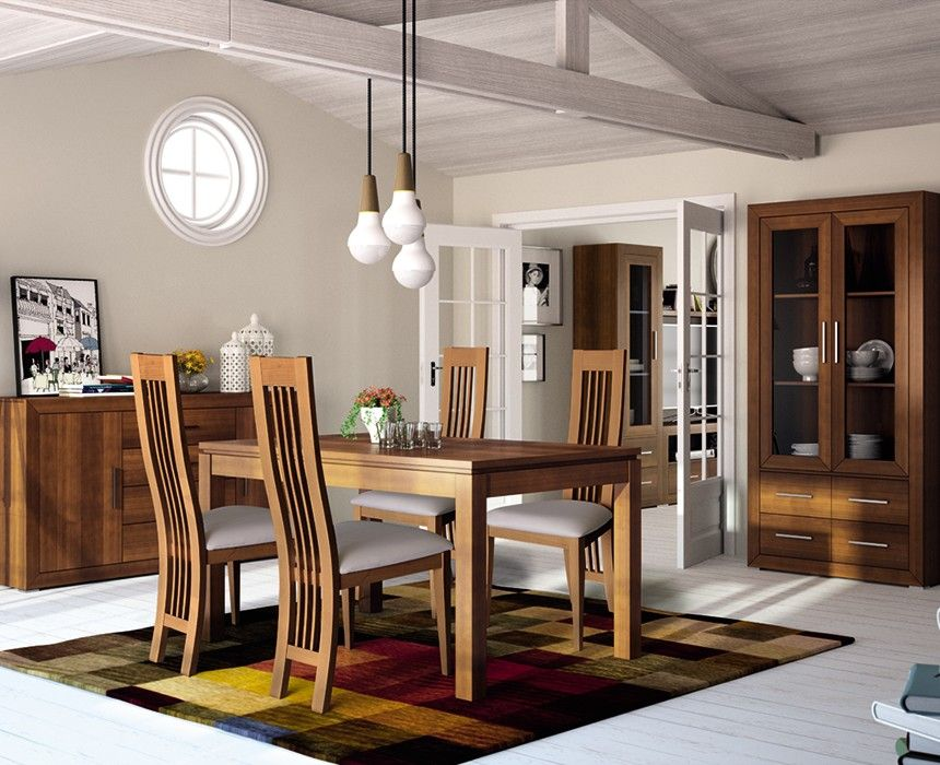 Mesa Y Sillas Para Salon Rustico Colonial Salones Rusticos Muebles Muebles Para Tienda