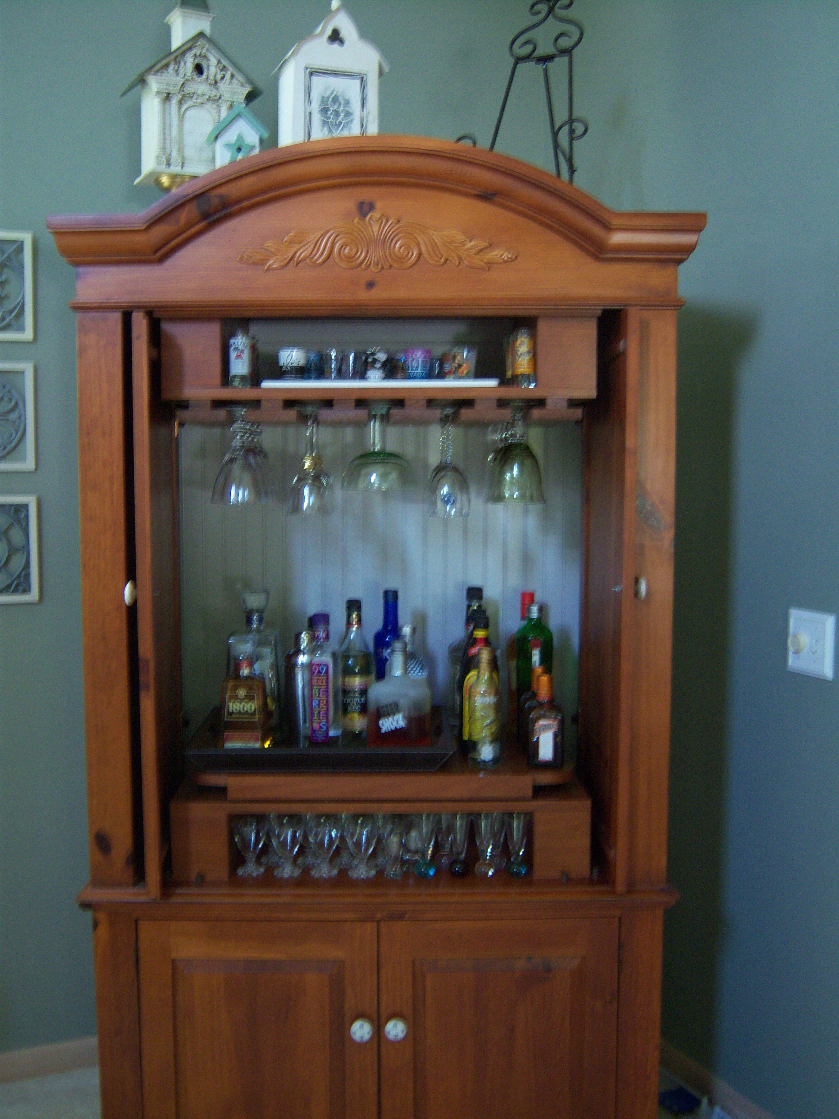 old armoire new bar