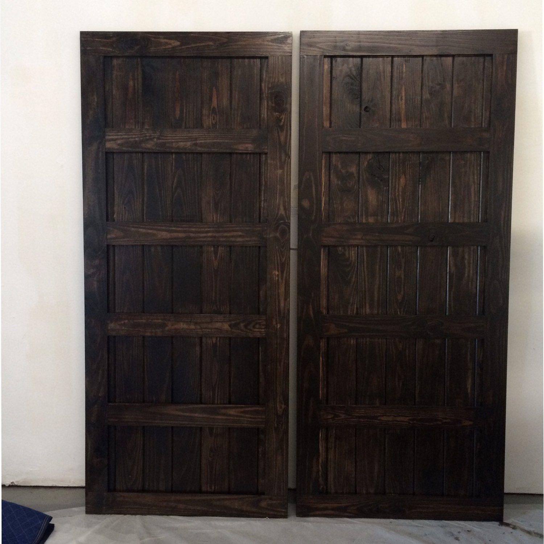 Five Panel Door Headboard Custom Built Vintage Sliding Barn Door 5 Panel Design Espresso
