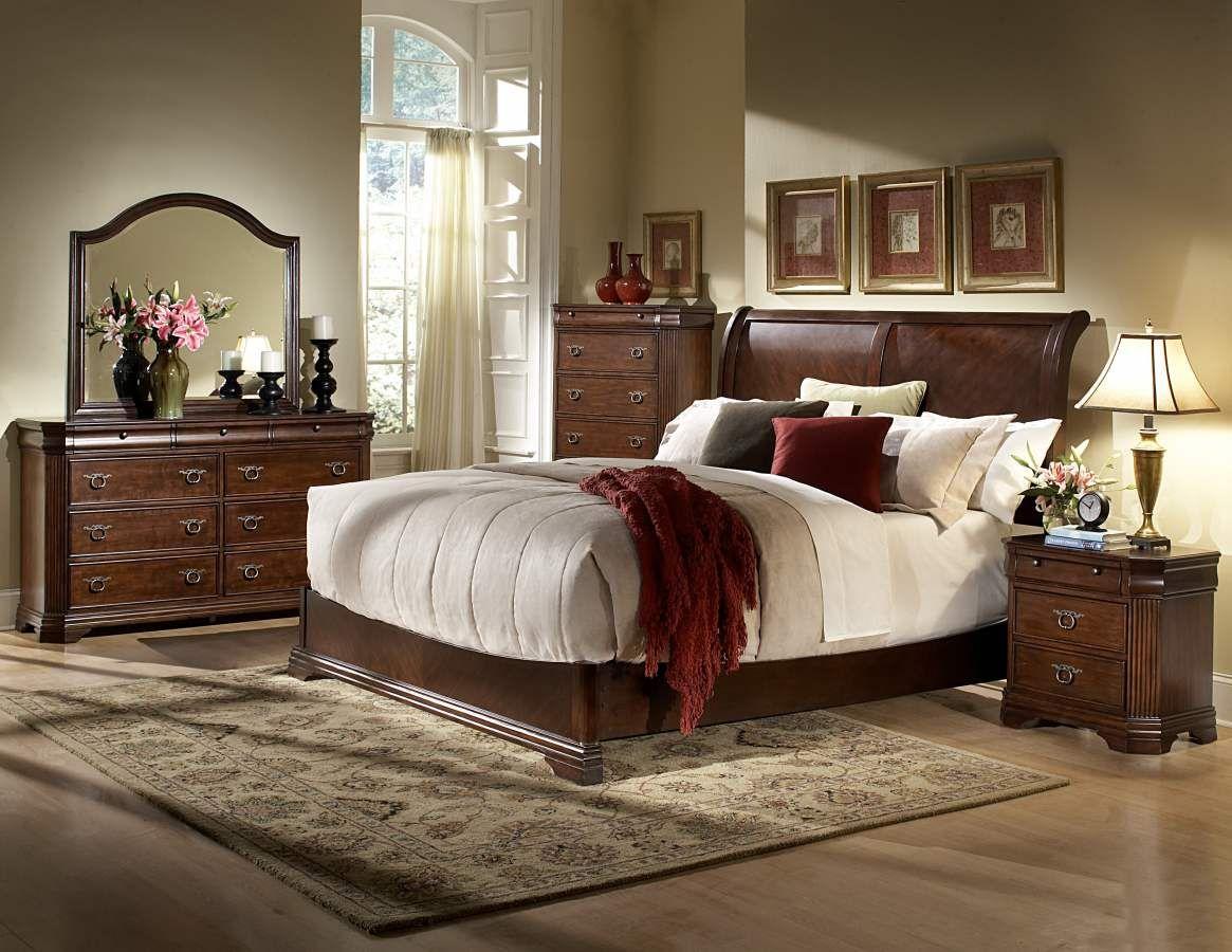 Karla cherry eastern king bed home elegance pinterest king