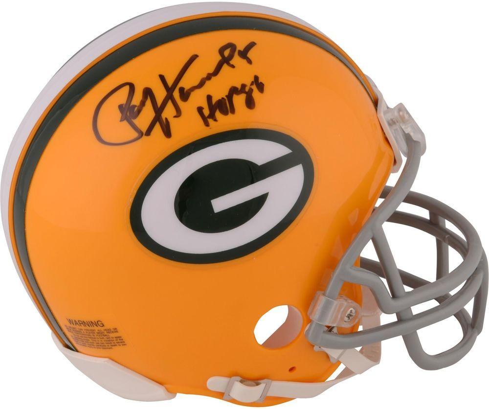 Paul Hornung Gb Packers Signed Throwback Riddell Mini Helmet With Hof 86 Insc Footballhelmet Spo Football Helmets Green Bay Packers Football Helmets For Sale