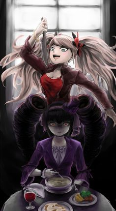 Celeste and Enoshima Junko | Danganronpa | Anime art, Anime, Art