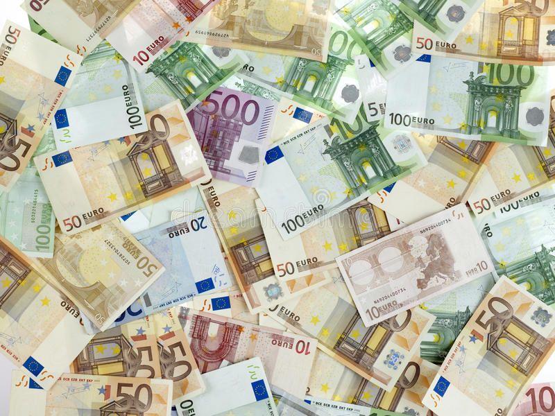 Money Lots Of Euro Money Bills Aff Lots Money Euro