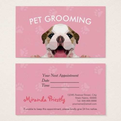 Cute Dog Groomer Grooming Personalised Appointment Cards